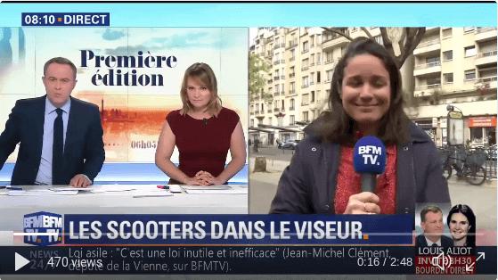 Un collectif dénonce les nuisances des deux-roues motorisés, @AshleyChevalier en direct dans Paris (via @PremiereEdition)