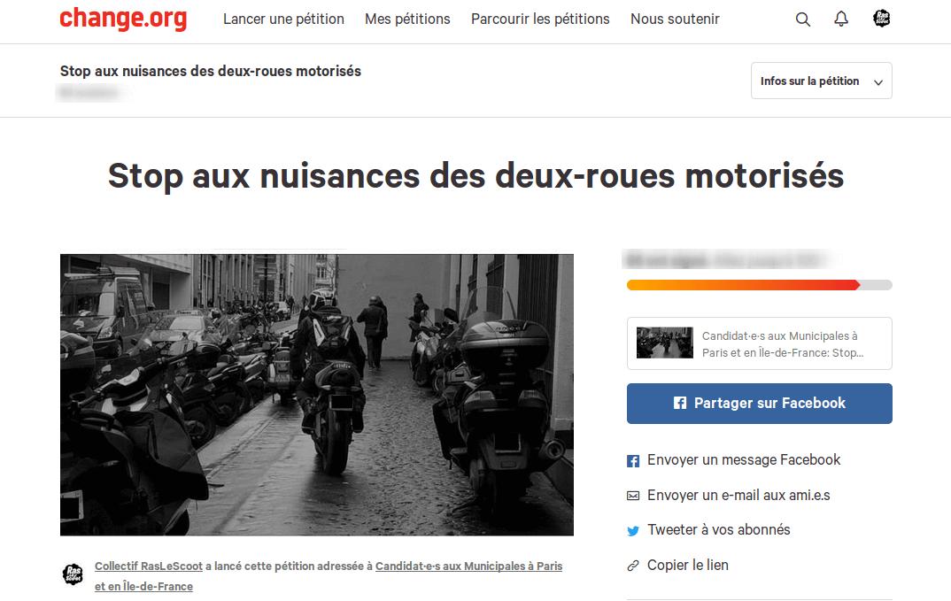 Pétition #Municipales 2020 : Demandez la sanctuarisation des trottoirs et l'instauration du stationnement payant pour les scooters et les motos